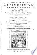 De simplicium medicamentorum historia libri VII