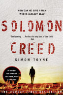 Book Solomon Creed  The only thriller you need to read this year