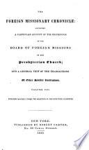 The Foreign Missionary Chronicle