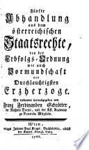 ... Abhandlung aus dem österreichischen Staatsrechte