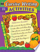 Cursive Writing Activities  Grades 3 4