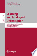 Learning and Intelligent Optimization