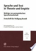 Sprache und Text in Theorie und Empirie