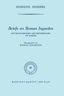 Briefe an Roman Ingarden