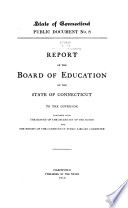 Report of the Commissioner of Education to the Governor