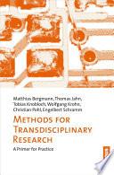 Methoden Transdisziplin  rer Forschung