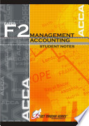 F2 Management Accounting Student Notes
