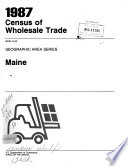 1987 Census of Wholesale Trade  Geographic area series