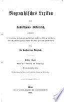 Biographisches lexikon des kaiserthums Oesterreich