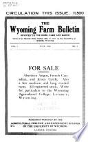 The Wyoming Farm Bulletin