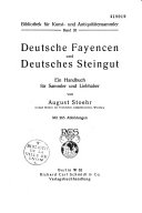 Deutsche Fayencen und Deutsches Steingut