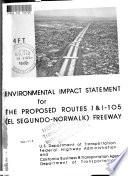 Route 1 and I 105  El Segundo Norwalk  Freeway transitway  proposed   Los Angeles County