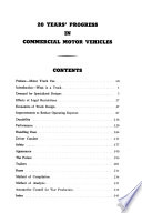 20 Years ̓progress in Commercial Motor Vehicles (1921-1942)