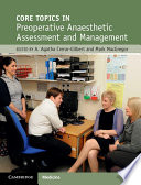 Core Topics In Pre Operative Anaesthetic Assessment And Management