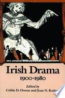 Irish Drama  1900 1980