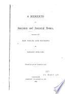 A Memento of Ancestors and Ancestral Homes Book PDF