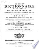 Nouveau dictionnaire de la langue allemande et fran  oise  fran  oise et allemande