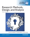 Research Methods  Design  and Analysis  Global Edition
