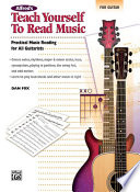 Alfred s Teach Yourself to Read Music for Guitar