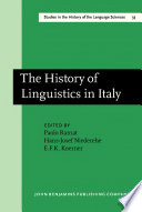 The History of Linguistics in Italy