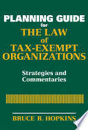 Planning Guide for the Law of Tax Exempt Organizations