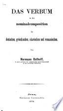 Das Verbum in der Nominalcomposition im Deutschen, Griechischen, Slavischen und Romanischen
