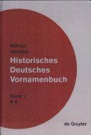 Historisches Deutsches Vornamenbuch: A-E
