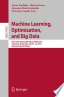 Machine Learning  Optimization  and Big Data