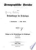 Verhandlungen des Reichstags
