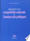 Application de la comptabilit   nationale    l analyse des politiques