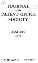 Journal of the Patent Office Society