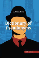 download ebook dictionary of pseudonyms pdf epub