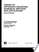 Theory Of Difference Equations Numerical Methods And Applications book