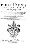 download ebook in tit. ff. de regulis iuris pdf epub