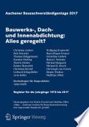 Aachener Bausachverständigentage 2017