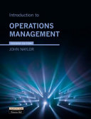 an introduction to operations management Learn how to identify the operations systems in your workplace and use operations management tools and concepts to improve outcomes, efficiency, and innovation.