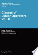 Classes of Linear Operators
