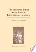 The European Union as an Actor in International Relations