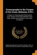 Oceanography In The Tongue Of The Ocean Bahamas B W I