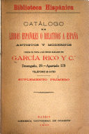 Biblioteca hispánica; catálogo de libros españoles o relativos á España antiguos y modernos puestos en venta á los precios marcados--Suplemento 1