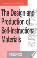 The Design and Production of Self instructional Materials