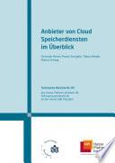 Anbieter von Cloud Speicherdiensten im Überblick