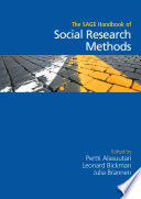 The Sage Handbook Of Social Research Methods book