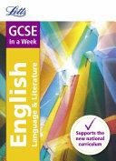 GCSE English Language and Literature