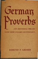 German proverbs and proverbial phrases with their English counterparts