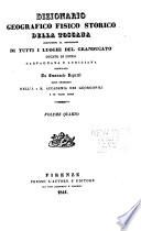 Dizionario geografico  fisico  storico della Toscana