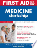 First Aid for the Medicine Clerkship  Third Edition