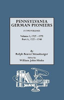 Penna. German Pioneers, Vol. I