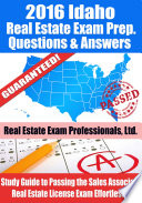2016 Idaho Real Estate Exam Prep Questions and Answers