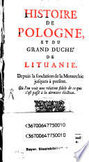 Histoire De Pologne, Et Du Grand Duché De Lituanie